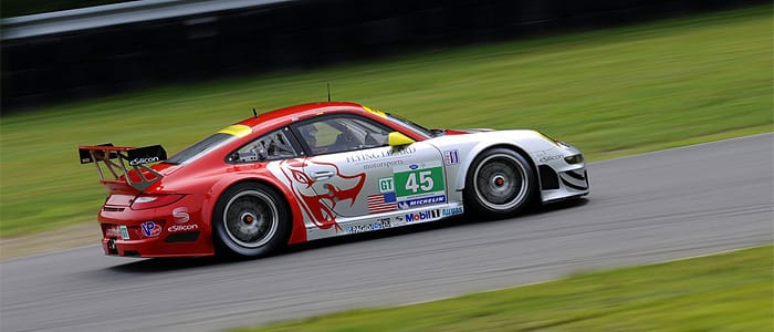 Patrick Long in action at Lime Rock - Photo credit: Porsche