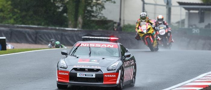 Tommy Hill behind the Safety Car - Photo Credit: Pirelli
