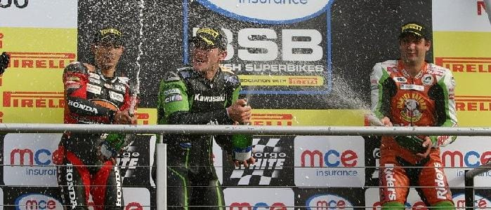 Tom Sykes celebates a double win at Brands Hatch last year - Photo Credit: Motorsport Vision