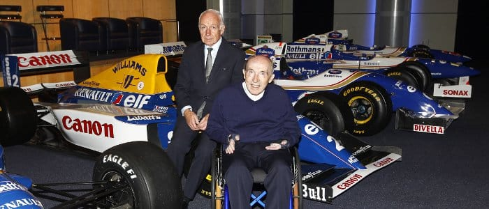 Renault Sport F1 President Bernard Ray and Sir Frank Williams at the Williams-Renault announcement - Photo Credit: Andrew Ferraro/LAT Photographic