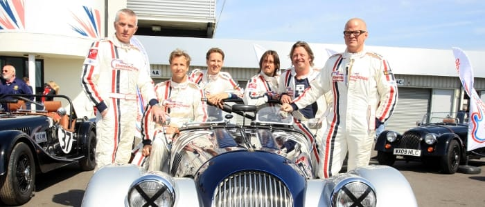 Just som of the Silverstone Classic Celebrity Challenge racers - Photo Credit: Jakob Ebrey Photography