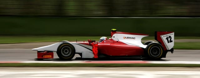 Luca Filippi driving for Coloni in GP2 Asia - Photo Credit: Drew Gibson/GP2 Media Service