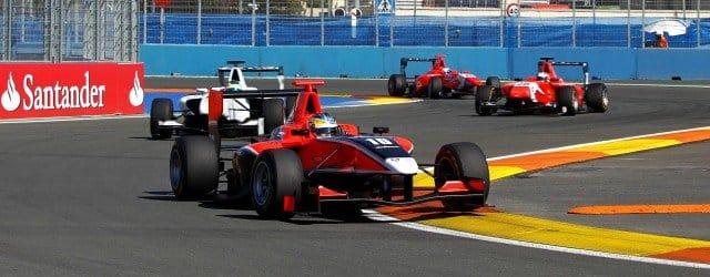 Adrian Quaife-Hobbs, Dean Smith and Lewis Williamson lead the way at Valencia - Photo: Andrew Ferraro/GP3 Media Service
