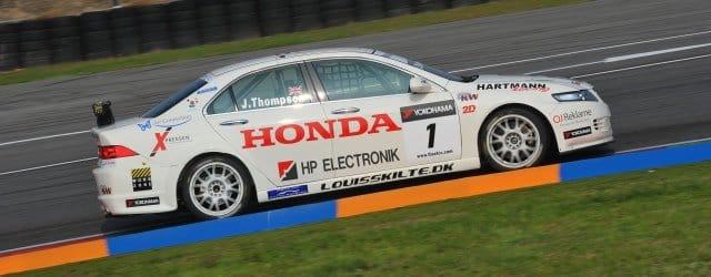 James Thompson racing for Hartmann Honda in last year's ETC Cup - Photo Credit: fiaetcc.com