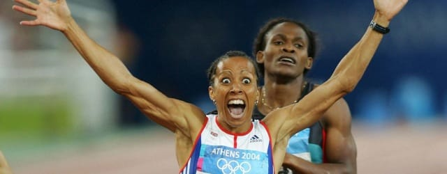 Dame Kelly Holmes at the Athens Olympic Games in 2004