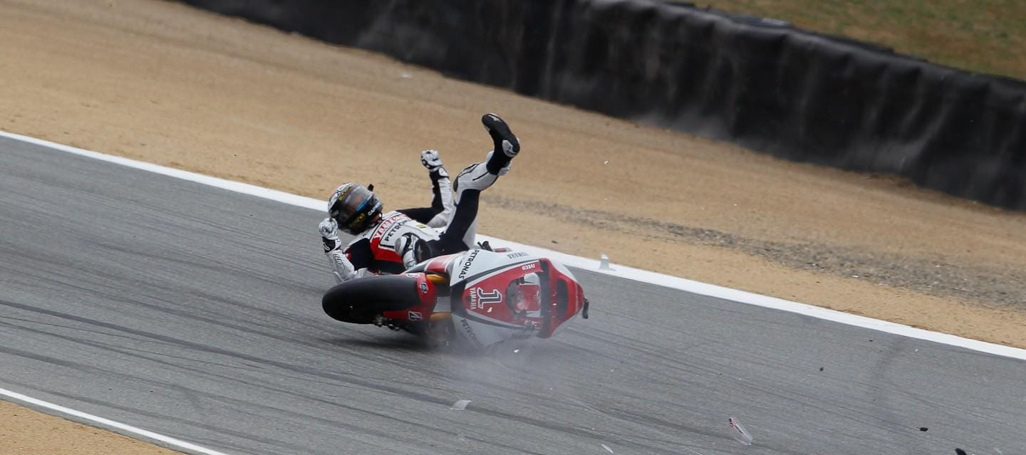 Jorge Lorenzo Crashes in FP3 - Photo Credit: MotoGP.com