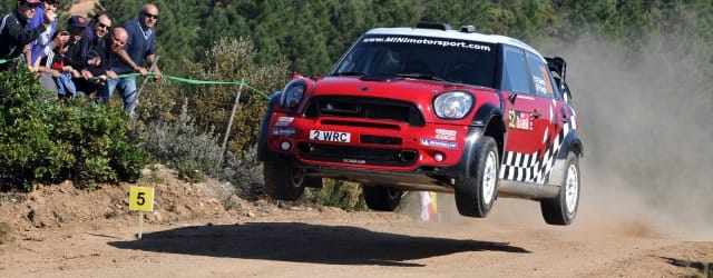 Kris Meeke driving the Mini John Cooper Works WRC at Rally d'Italia Sardegna - Photo Credit: BMW AG