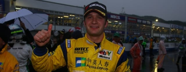 Colin Turkington after his podium finish at Okayama last year, which later became a win - Photo Credit: fiawtcc.com