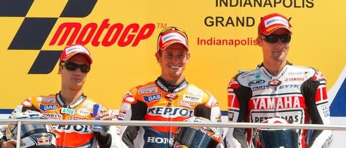 The Podium Finishers - Photo Credit: MotoGP.com