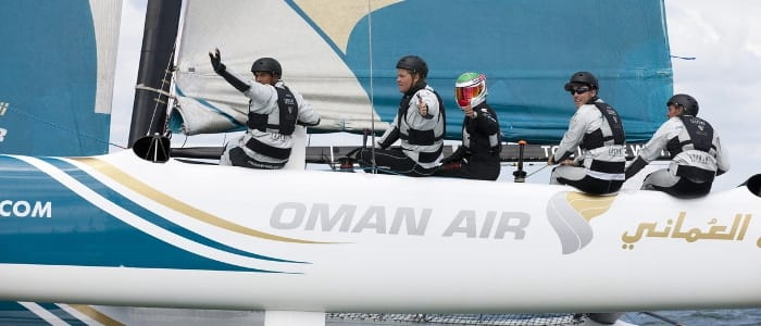 Al Harthy Donning His Racesuit and Helmet At Sea (Credit: Lloyd Images)