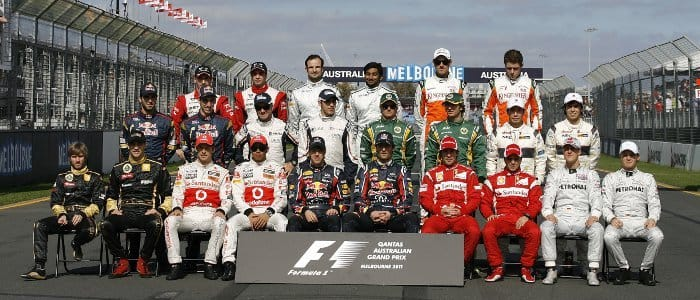 The 2011 F1 Driver Photograph, taken at Albert Park, Australia - Photo Credit: Mercedes GP