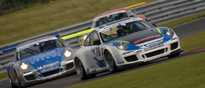 Stephen Jelley Leads Michael Meadows at Snetterton (Credit: Chris Gurton Photography)