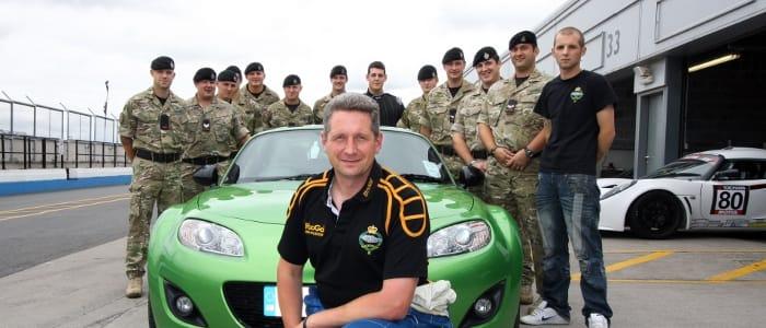 Maj. Cameron and member of the 2nd Royal Tank Regiment - Photo Credit: Mazda