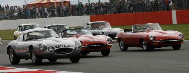 Jaguar E-Types on parade - Photo Credit: Silverstone Classic
