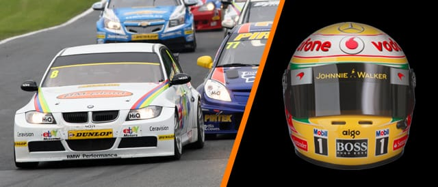 Win 1/2 Scale Replica Lewis Hamilton Helmet + BTCC Tickets