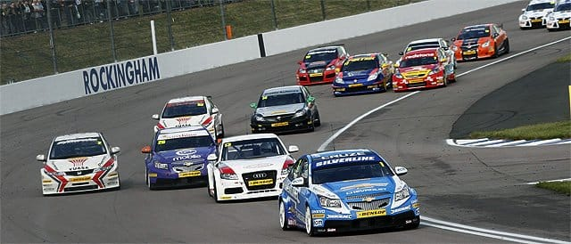 Plato leads the field at Rockingham Race 1 - Photo credit: BTCC.net