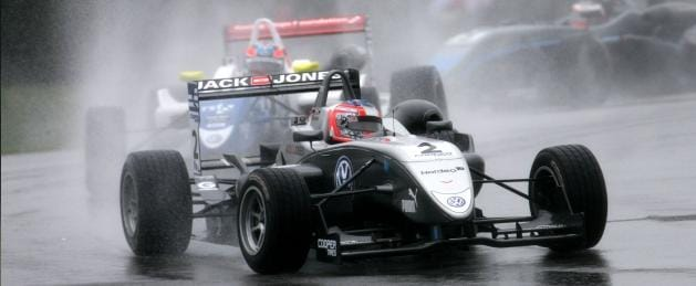 Kevin Magnussen Assumes the Lead from Jack Harvey - Photo Credit: Formula3.co