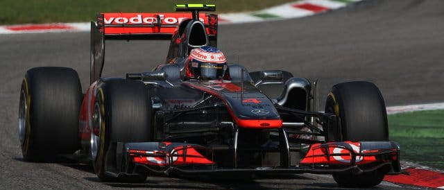 Jenson Button on his way to second place in Italy - Photo Credit: Vodafone McLaren Mercedes