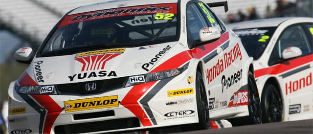 Honda team-mates Shedden and Neal share top spot - Photo credit: BTCC.net