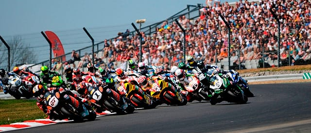 MCE Insurance British Superbike Championship in action