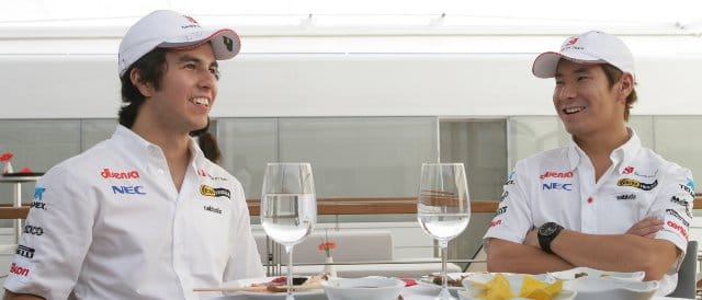 Sergio Perez (left) and Kamui Kobayashi - Photo Credit: Sauber Motorsport AG