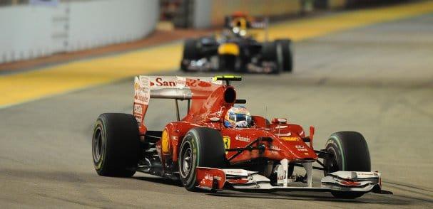 Sebastian Vettel pushed Alonso hard in last season's race, but could not deny the Ferrari man victory - Photo Credit: Ferrari