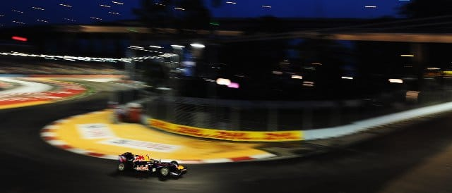 Sebastian Vettel in Singapore last season - Photo Credit: Clive Mason/Getty Images