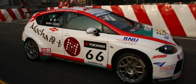 Andre Couto driving for Sunred at last year's Guia Race of Macau - Photo Credit: fiawtcc.com