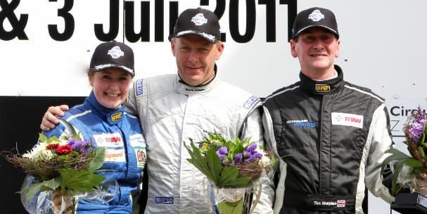 Zoe Wenham on the Zandvoort podium (Photo Credit: Chris Schontus)