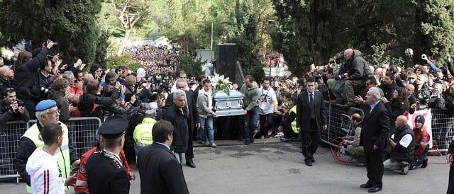 Marco Simoncelli's funeral service - Photo Credit: MotoGP.com