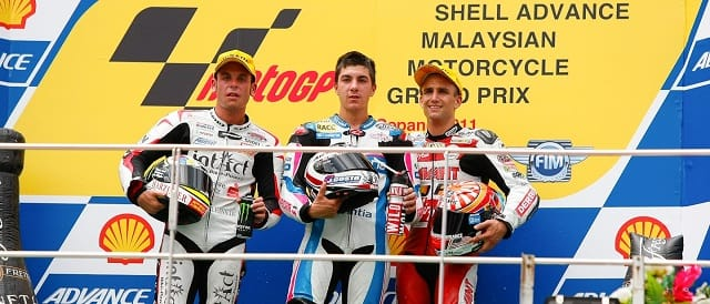 The 125cc podium in Malaysia - Photo Credit: MotoGP.com