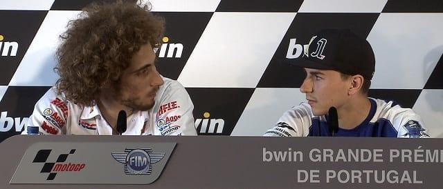 Marco Simoncelli & Jorge Lorenzo - Photo Credit: MotoGP.com