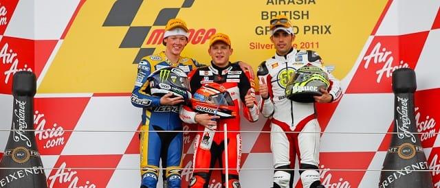 The Moto2 podium at Silverstone - Photo Credit: MotoGP.com