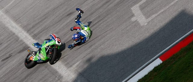 Kenan Sofuoglu crashes during FP2 - Photo Credit: MotoGP.com