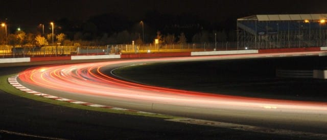The last moments of darkness at the Britcar 24 (Photo Credit: Chris Gurton Photography)