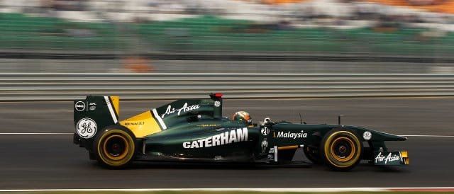 Karun Chandhok became the first driver to complete a flying lap at the new Buddh International Circuit - Andrew Ferraro/LAT Photographic