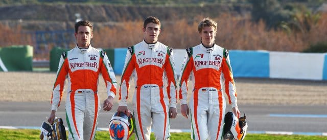 Three into two does not go: who will be driving for Force India next year? (Left to right:) Adrian Sutil, Paul di Resta, Nico Hulkenberg - Photo Credit: Sahara Force India F1 Team