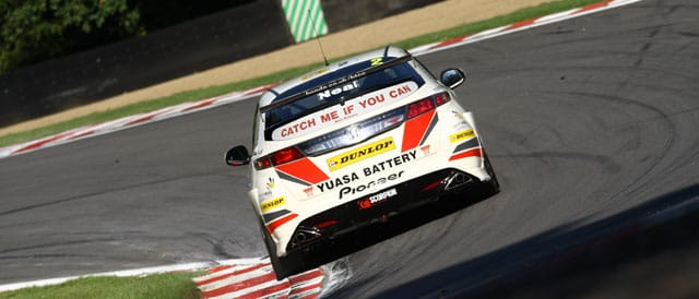 Top of the time sheets for Matt Neal in Free Practice 1 at Brands Hatch GP - Photo Credit: Chris Enion
