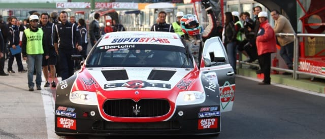 Andrea Bertolini celebrates after the race - Photo Credit: Superstars Series