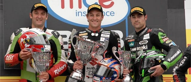 The race one podium at Brands Hatch - Photo Credit: Suzuki Racing