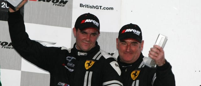 Glynn Geddie (l) and Jim Geddie on the Silverstone podium (Photo Credit: Jakob Ebrey)