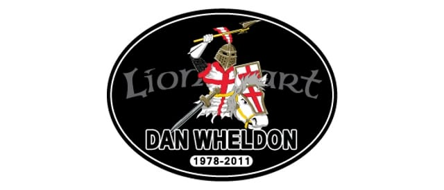 NASCAR's Lionheart decal for Dan Wheldon (Image Credit: NASCAR)