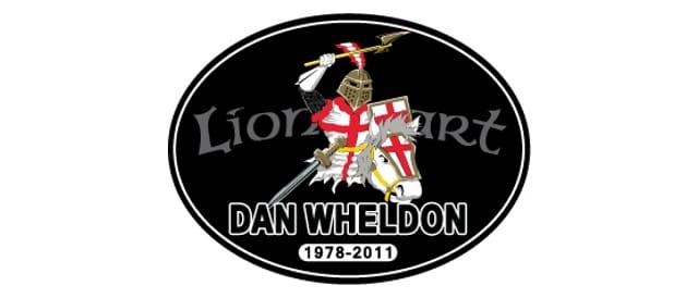 NASCAR's Lionheart decal for Dan Wheldon (Image Credit: NASCAR)