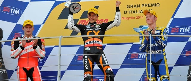 The Moto2 podium at Mugello - Photo Credit: MotoGP.com