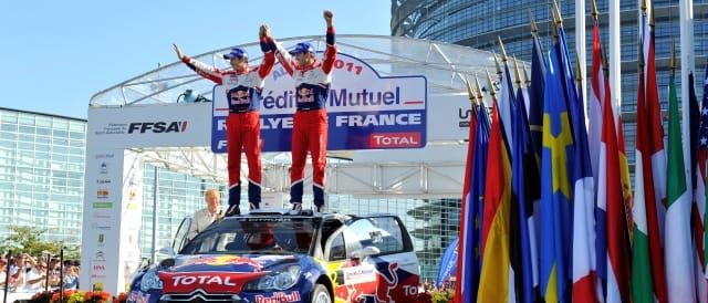 Julien Ingrassia and Sebastien Ogier celebrate their victory - Photo Credit: Citroen Racing Media