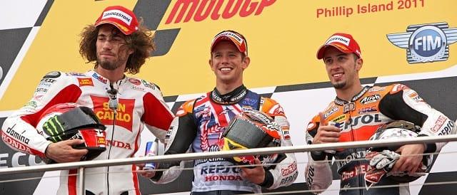 The MotoGP podium in Australia - Photo Credit: MotoGP.com