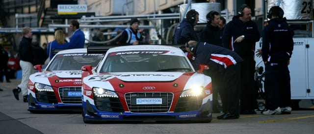 United Autosports' two Audi R8 LMS (Photo Credit: United Autosports)