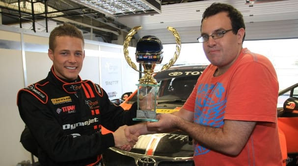 Frank Wrathall, Fans Forum Trophy (Photo Credit: Toyota)