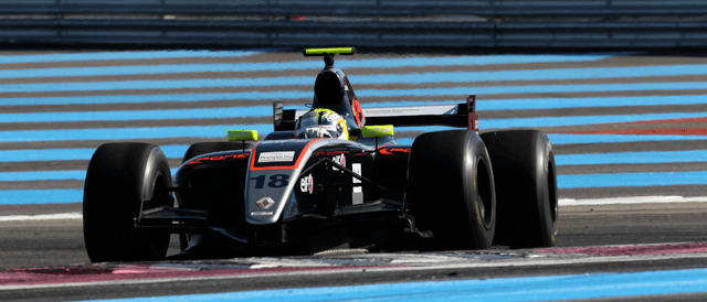Nick Yelloly in action at the wheel of the Pons Racing Formula Renault 3.5 at Paul Ricard.