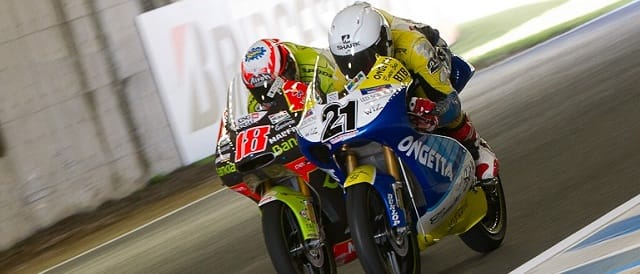 Harry Stafford (#21) and Nicolas Terol (#18) - Photo Credit: MotoGP.com
